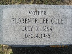 Florence Lee Cole