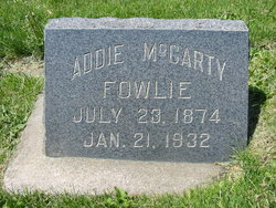 Adelaide <i>McCarty</i> Fowlie