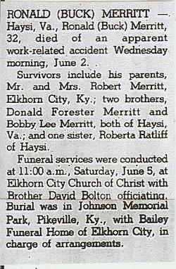 Ronald Buck Merritt