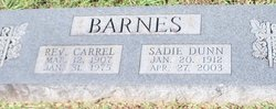 Sadie V Barnes