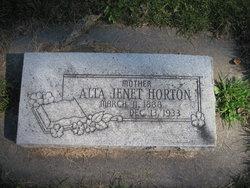 Alta Jenet <i>Clark</i> Horton