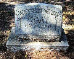 Mary Ann <i>Hutson</i> Altman