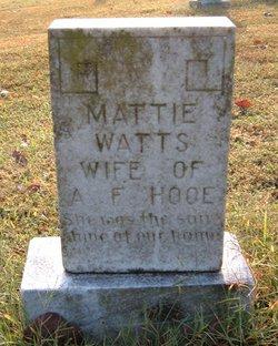 Mattie <i>Watts</i> Hooe
