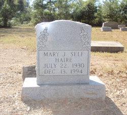 Mary J. <i>Self</i> Haire
