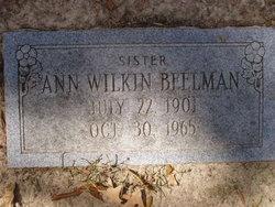 Ann <i>Wilkin</i> Beelman