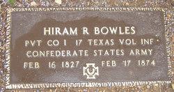 Pvt Hiram R. Bowles