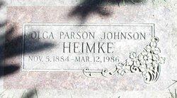 Olga Parson <i>Johnson</i> Heimke