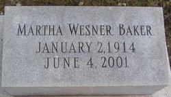 Martha Olive <i>Wesner</i> Baker