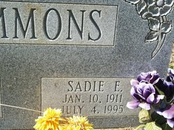 Mrs Sadie Elizabeth <i>Preston</i> Hammons