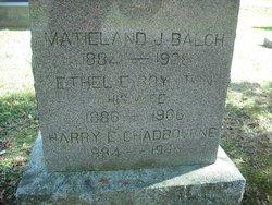 Maitland J. Balch