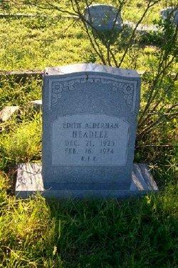 Edith <i>Alderman</i> Headlee