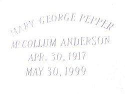 Mary George Pepper McCollum Anderson