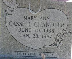 Mary Ann <i>Cassell</i> Chandler