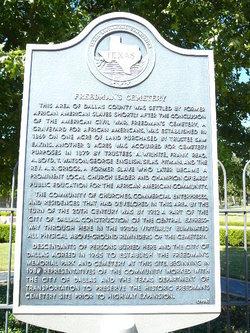 Freedmans Cemetery Memorial
