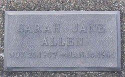Sarah Jane Allen