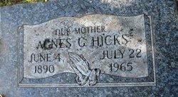 Agnes G Hicks