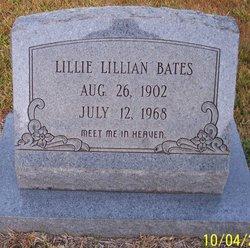Lillian Lillie <i>Etheridge</i> Bates