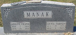 Annie <i>Varnon</i> Manak