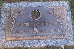 Mattie Lou <i>Wilson</i> Herod Peters