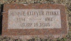 Wilhelmina Minnie <i>Kliewer</i> Zielke