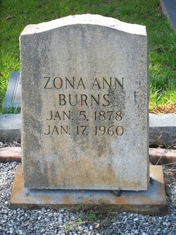 Zona Ann <i>Cloud</i> Burns