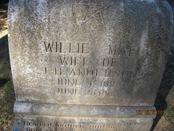 Willie Mae <i>Benefield</i> Anderson