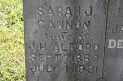 Sarah J <i>Cannon</i> Alford