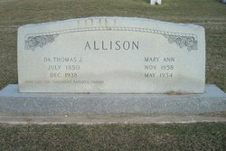 Dr Thomas Jefferson T.J. Allison