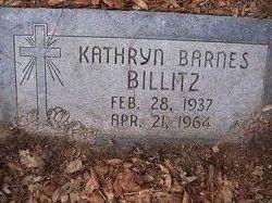 Mrs Kathryn J. <i>Barnes</i> Billitz