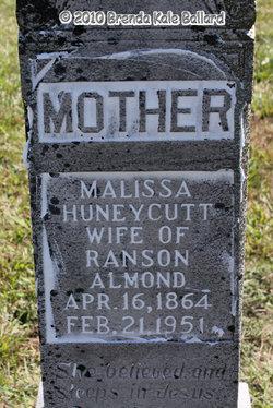 Malissa Ann Lizzie <i>Huneycutt</i> Almond