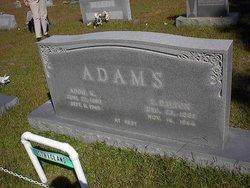 Addie L. <i>Keene</i> Adams