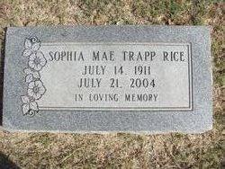 Sophia Mae <i>Trapp</i> Rice