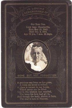Lucy Jane <i>Butterfield</i> Chamberlin
