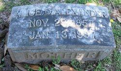 Alice D <i>Freeland</i> Alexander