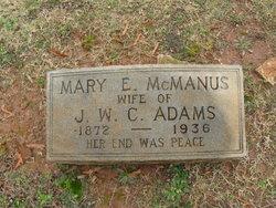 Mary Elizabeth <i>McManus</i> Adams