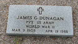 Pvt James G Dunagan