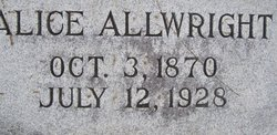 Alice <i>Tuck</i> Allwright