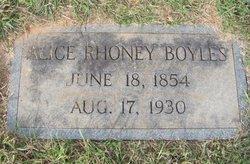 Alice <i>Rhoney</i> Boyles