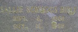 Sallie Witt <i>Scruggs</i> Bible