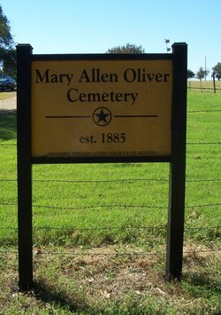 Mary Allen Oliver Cemetery