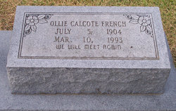 Ollie Mae <i>Calcote</i> French