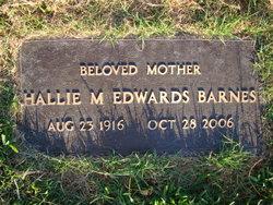 Hallie M <i>Edwards</i> Barnes