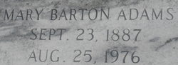 Mary Pauline Mamie <i>Barton</i> Adams