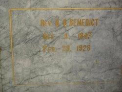 Rev D. D. Benedict