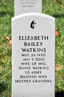 Elizabeth Virginia <i>Bailey</i> Watkins