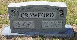 Margaret Janie <i>Sikes</i> Crawford