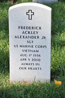 Sgt Frederick Ackley Alexander, Jr