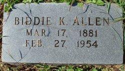 Biddie K. <i>Griffin</i> Allen