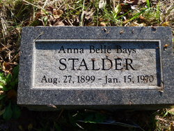 Anna Belle <i>Bays</i> Stalder