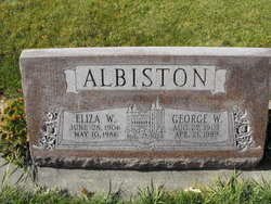 Eliza <i>Woolford</i> Albiston